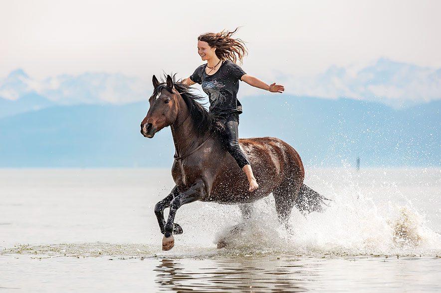 Mit ihrem Pferd Estella und ihren Trainingspferden konnte sie u.a. bereits auf einigen Messen und dem Mustang Makeover Germany 2017 & 2018 begeistern.