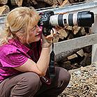Christiane Slawik in Action beim Shooting.