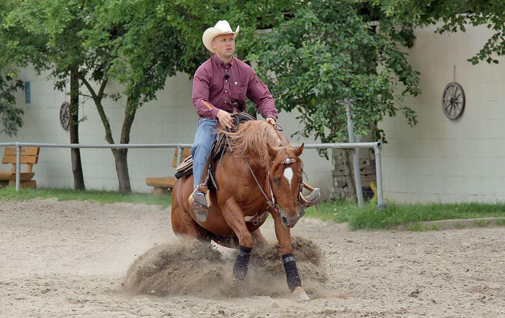 Reitübung Western: Run Down mit Sliding Stop aus Galopp