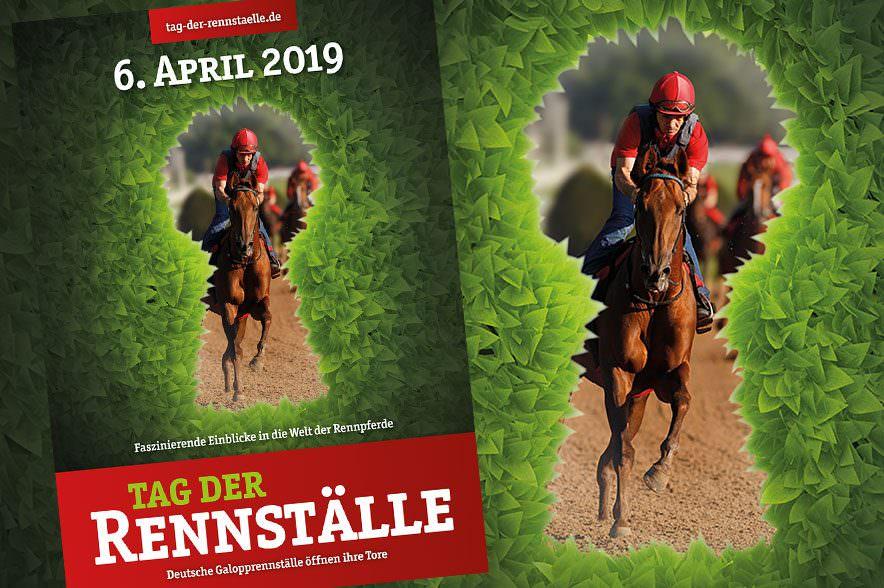 Plakat: Tag der Rennställe am 6. April 2019