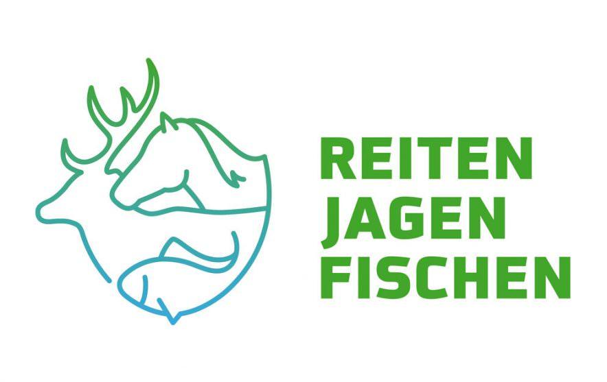 Messe Reiten Jagen Fischen Logo