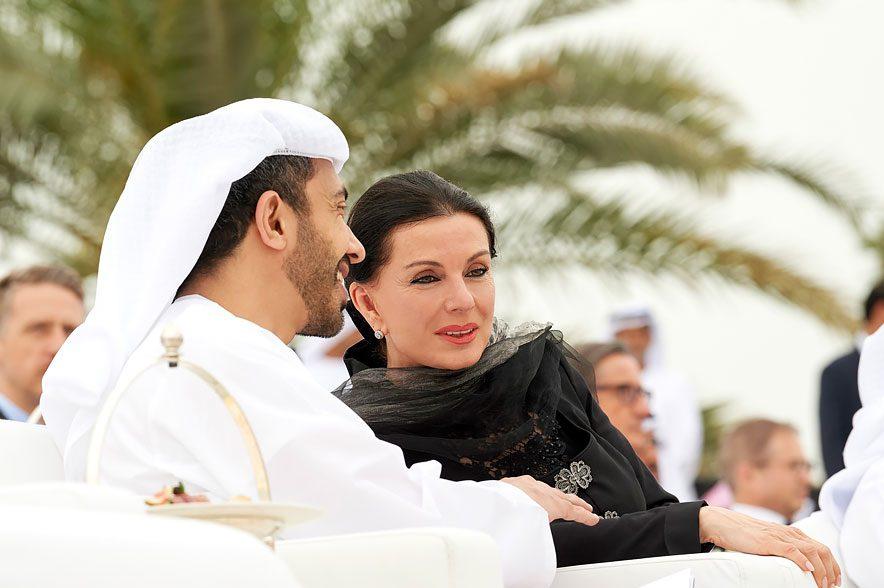 Kronprinz Mohamed bin Zayed und Sonja Klima. © Michael Poehn
