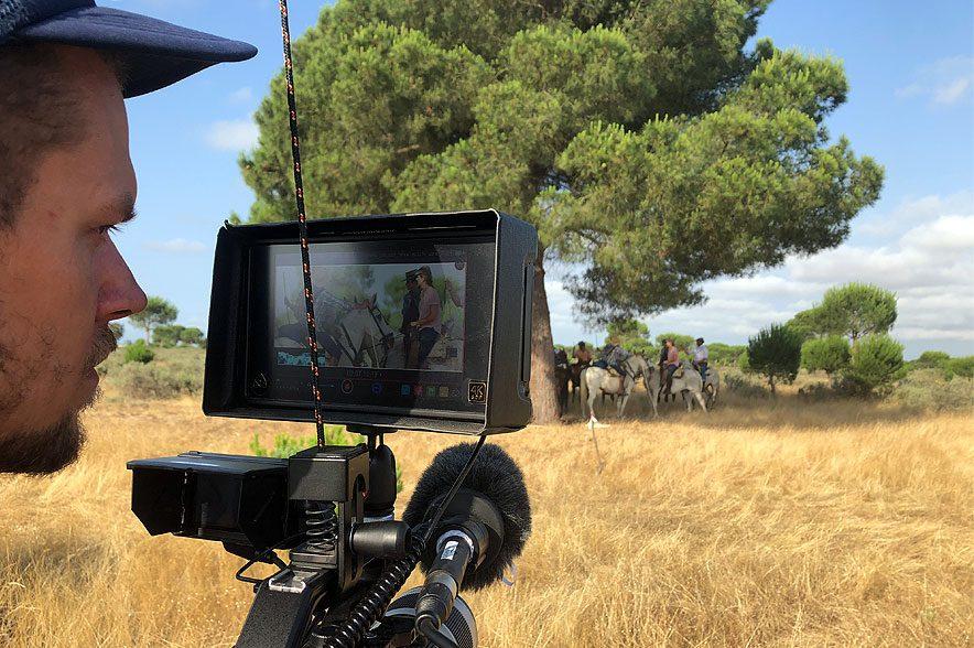 Magie der Wildpferde: Während des Drehs in Andalusien. © catamaranfilms
