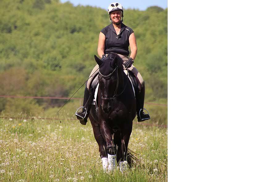 Ammerbucher Pferdefestival 2019: Uta Gräf ist die einzige aus ihrer Familie, die reitet und sich für Pferde begeistert. © F. Heidenhof