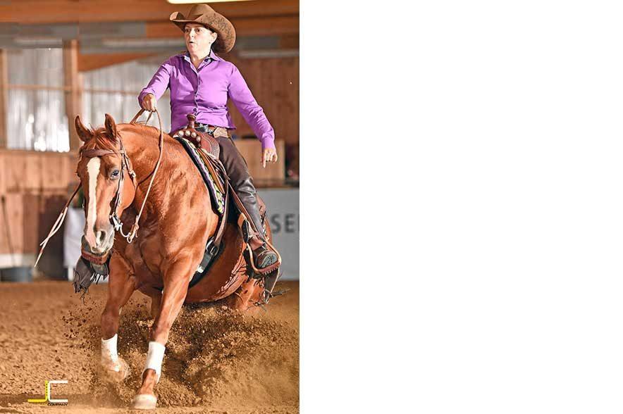 News: Auftaktturnier bei Ludwig Quarter Horses in Bitz: Sylvia Maile auf LQ Honey. © LuxCompany