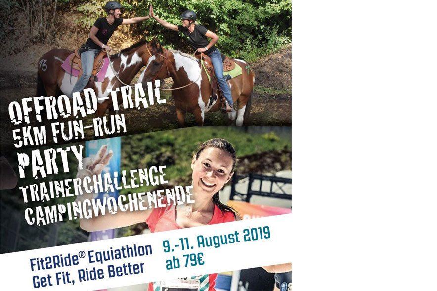 Fit2Ride®Equiathlon 9.-11. August 2019: Sei dabei beim Fit2Ride® Equiathlon und stell deine Fitness beim Parcours unter Beweis.