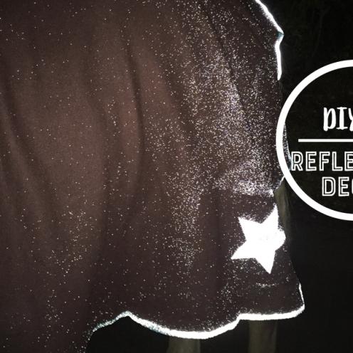 So bastelst du dir deine eigene Reflektordecke - in nur 2 Minuten! Das perfekte DIY für die dunkle Jahreszeit.
