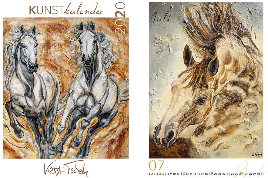 Gewinne den Pferdekunstkalender von Kerstin Tschech.