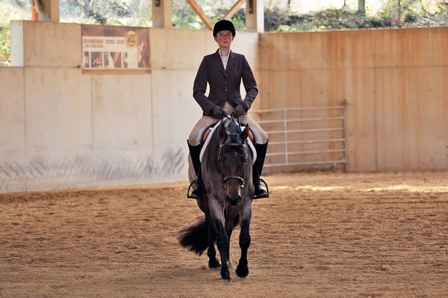 Westerndisziplin Hunter under Saddle: Der korrekte Sitz spielt bei dieser Disziplin eine große Rolle.